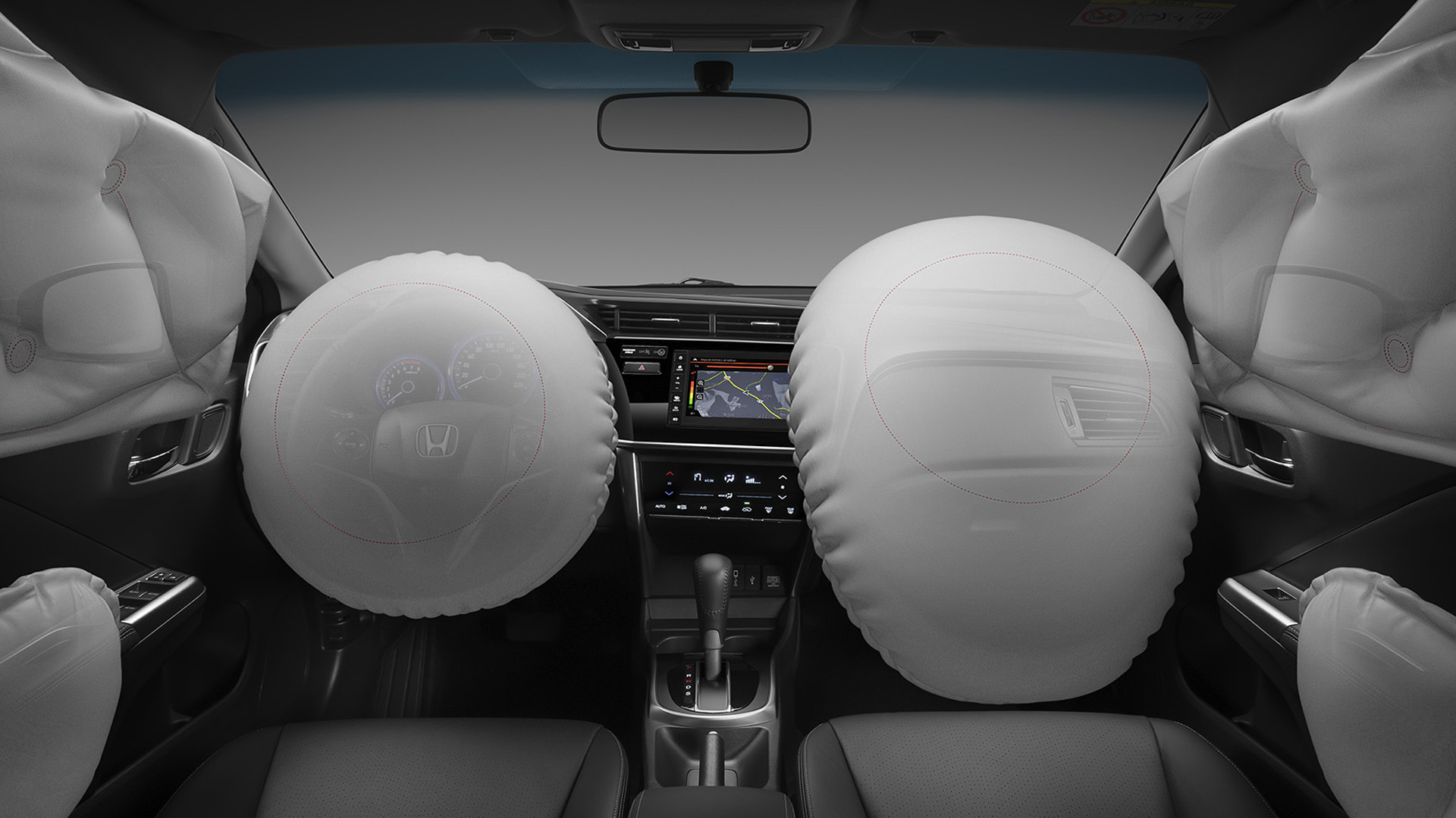 Honda City - 6 airbags: frontais, laterais e de cortina