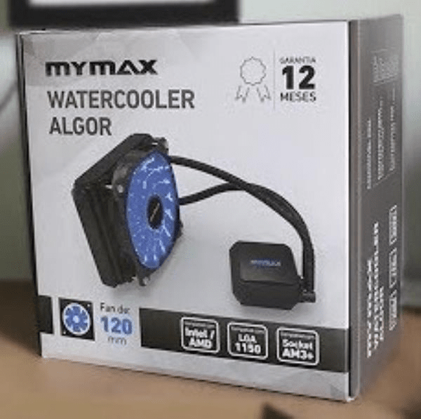 Cooler De Proc Water Algor Mymax 120Mm com Led Azul
