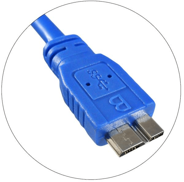 Cabo USB 3.0 Super Speed Para HDs Ext  1,50 Mts