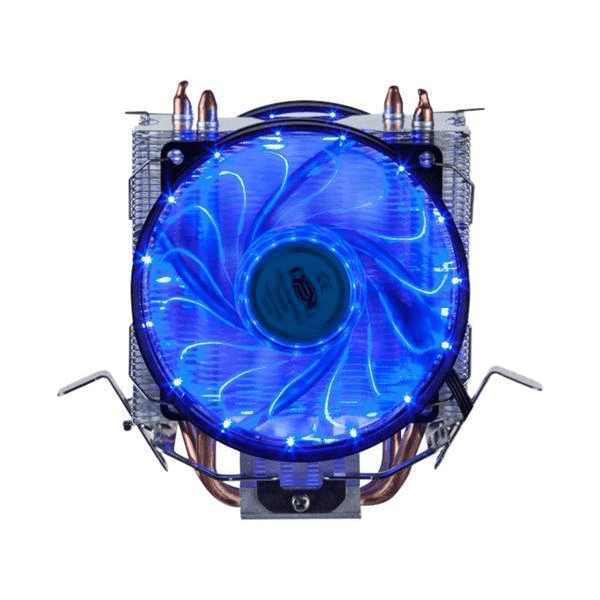 Cooler De Proc Intel / AMD  Duplo Fans Azul Dx-9115D