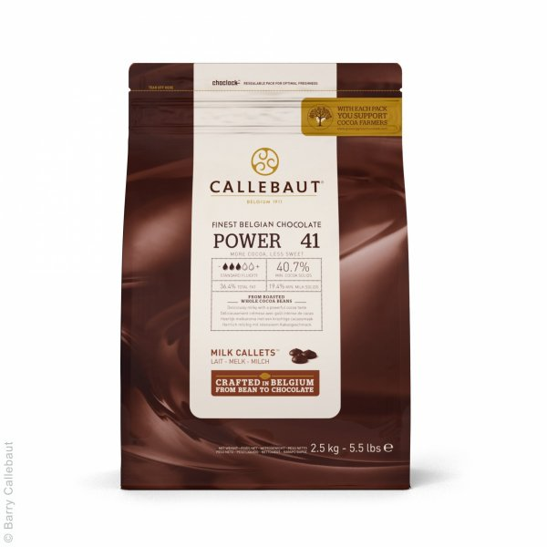 Chocolate Callets 'Power 41' - Ao Leite 40,7% - 2,5Kg - CALLEBAUT