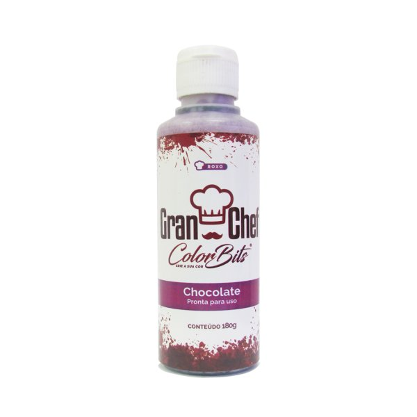 Color Bits Chocolate - Roxo - 180g - GRANCHEF