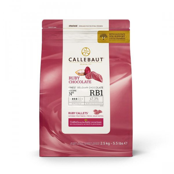 Chocolate Ruby Callets 'RB1' - 47,3% - 2,5kg - CALLEBAUT