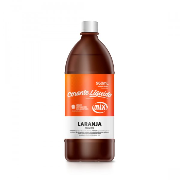 Corante Liquido - Laranja - 960ml - MIX