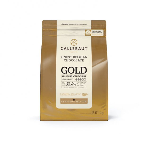 Chocolate Callets Caramelo 30,3% 'Gold' - 2,01kg - CALLEBAUT