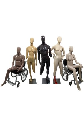 Manequins Inclusivos Adaptados