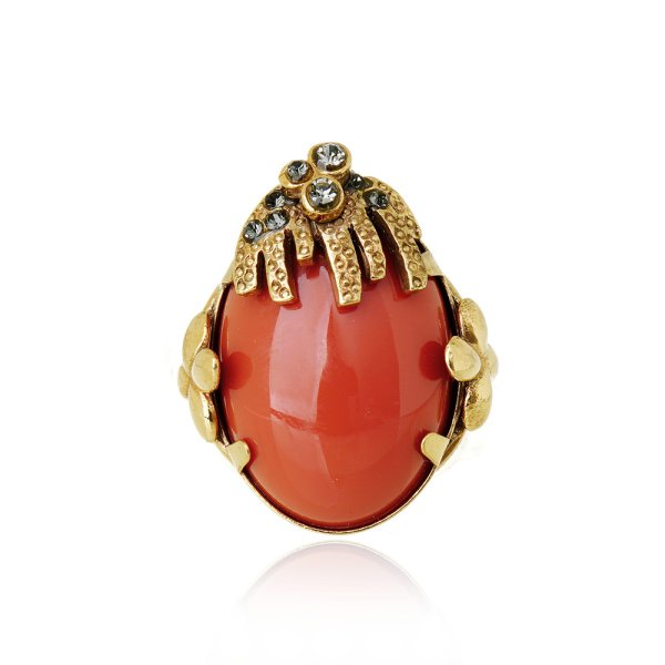Anel Savona Oval Coral