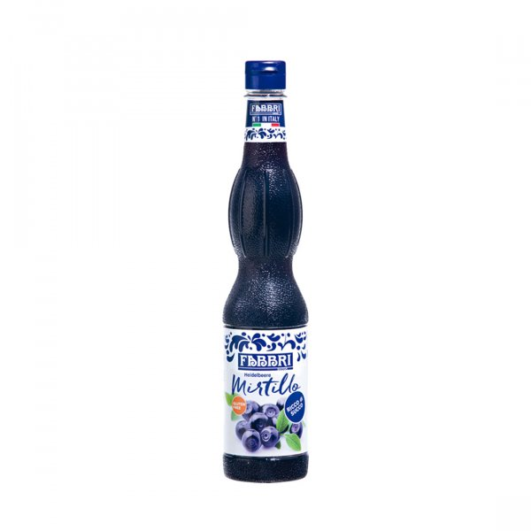 Xarope de Blueberry (Mirtilo) - Sem Glúten - 560ml - FABBRI